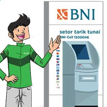 Top Up Grab Driver via ATM BNI