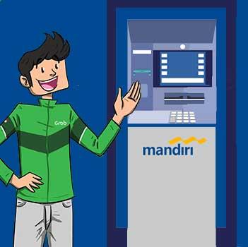Top Up Grab Driver via ATM Mandiri