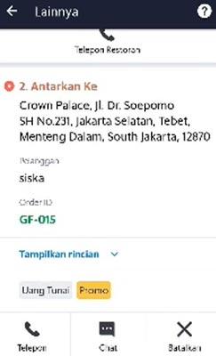 Cancel GrabFood Pilihan