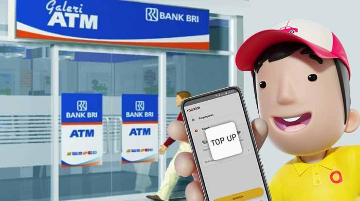 Cara Isi Saldo Driver Maxim ATM BRI