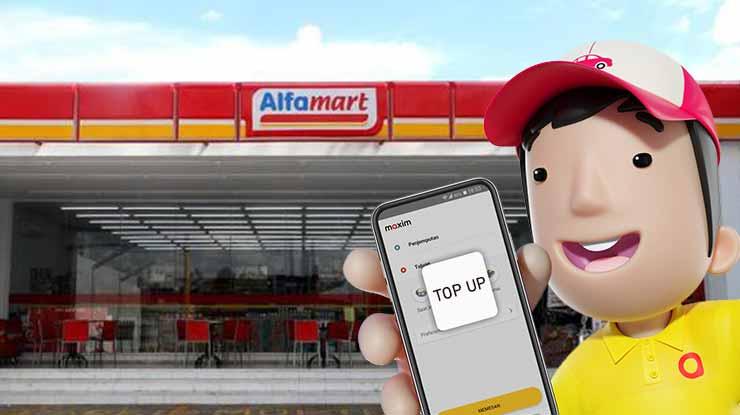 Cara Top Up Saldo Maxim Driver di Alfamart