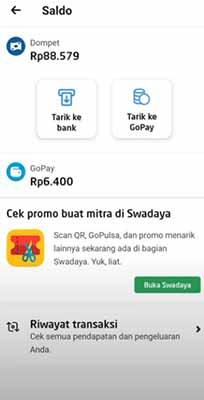 Cara Withdraw Gojek ke Gopay