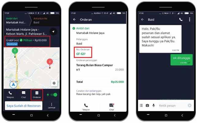 Melihat Tarif di Aplikasi Grab Driver