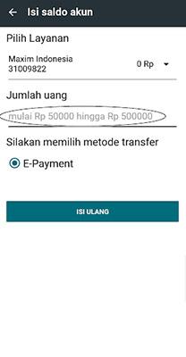 Mendapatkan Payment Code