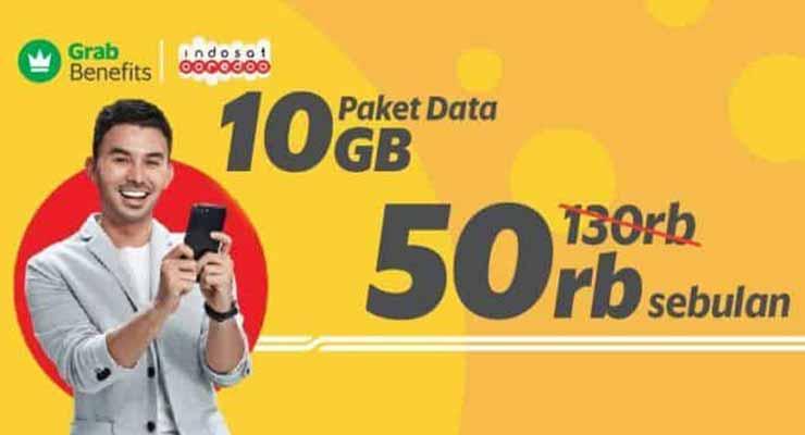 Paket Internet Grab Indosat