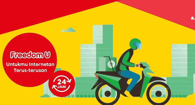 Paket Internet Indosat Freedom U Grab