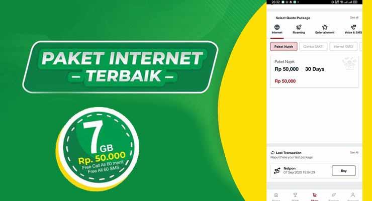 Paket NUJEK50K Telkomsel