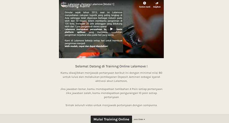 Training Online Lalamove