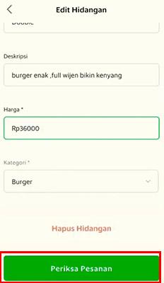 biaya grab food