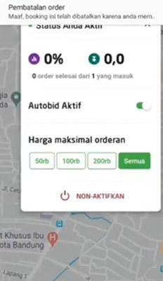 cancel driver Gojek