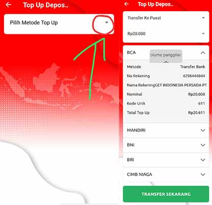 cara top up get indonesia