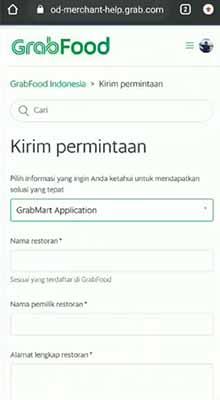 formulir pendaftaran grabmart