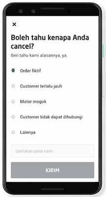 jangan Cancel Orderan Gojek