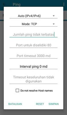kode ping terminal emulator gojek