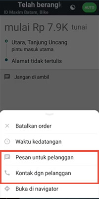 membatalkan order