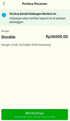 merubah harga makanan Grabfood
