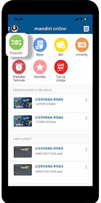 top up lewat mobile banking