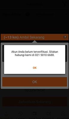 verifikasi akun pengemudi