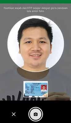 verifikasi selfie ktp grabkios