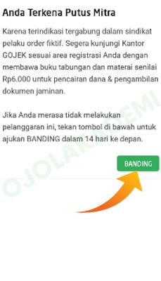 Cara Banding PM akun Gojek