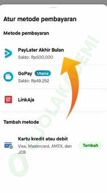 Cara Bayar Gojek Lewat PayLater