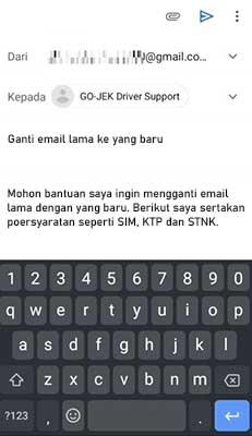 Cara Merubah Data Melalui Email Driver Support