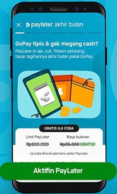 Mengaktifkan GoPay PayLater