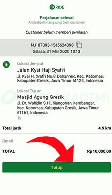 detail informasi perjalanan Nujek