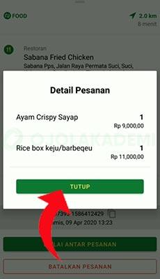 order makanan Nujek