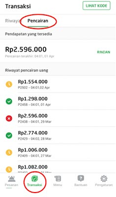 Cara Melihat Pembayaran di Aplikasi GoBiz