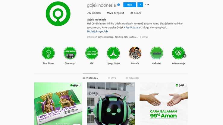 Komplain Gojek Melalui Instagram