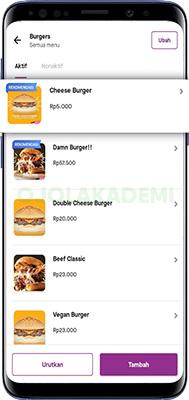 harga makanan di gofood