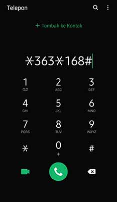 kode dial 1