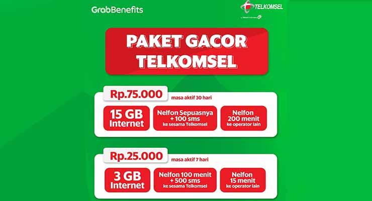 paket grab telkomsel 75 ribu