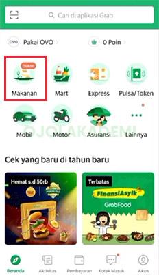 Memesan Makanan di Grab Online