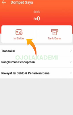 Top Up Shopee Food Driver