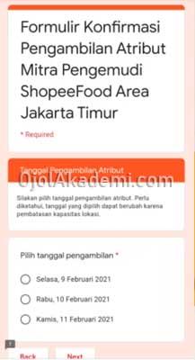 harga atribut shopee food