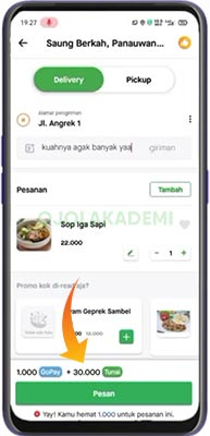 metode pembayaran di Gojek