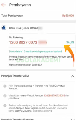 nomor virtual account