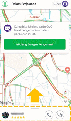 Cara Tracking Lewat Share my ride
