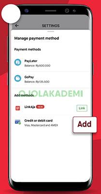 Menambahkan Kartu Kredit di Gofood