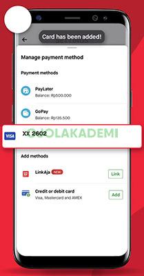 Menambahkan Kartu Kredit