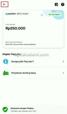 Transfer PayLater Gojek