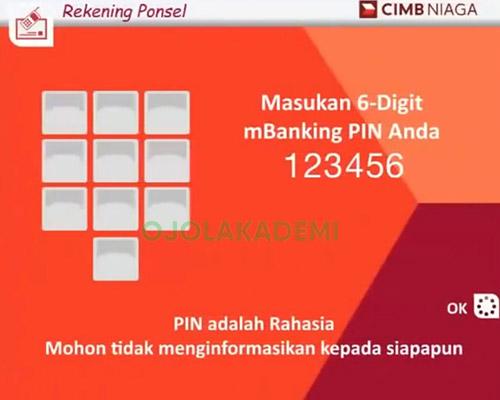 cek pin rekening ponsel cimb niaga