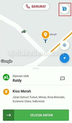 Cara Isi GoPay Customer lewat Driver Gojek