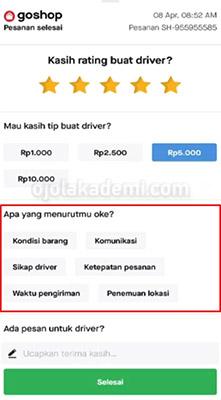 Cara Kasih Nilai Driver
