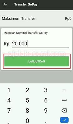 Isi GoPay Customer