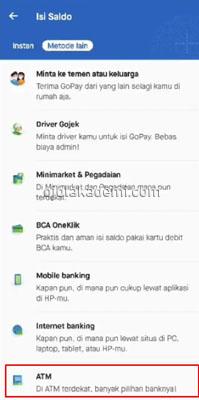 Isi Gopay Lewat ATM Mandiri