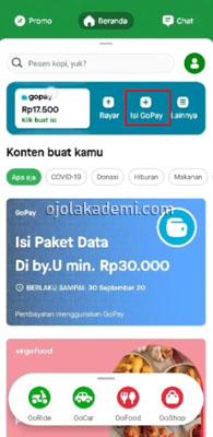 Mengisi Gopay Lewat ATM Mandiri
