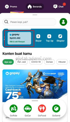 Top Up GoPay di Alfamart